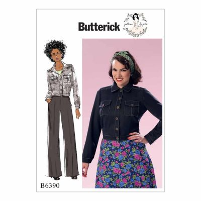 Butterick Sewing Pattern B6390 Misses' Button-Down Jacket with Bust Pockets