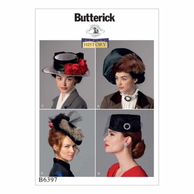 Butterick Sewing Pattern B6397 Misses' Hats in Four Styles