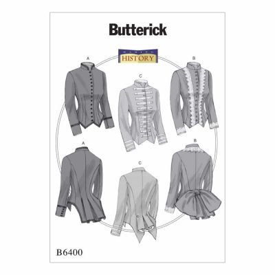 Butterick Sewing Pattern B6400 Misses' Boned, Back-Pleat Jackets