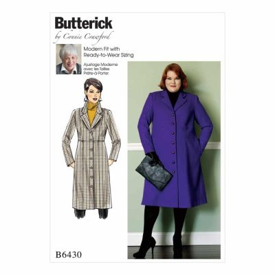 Butterick Sewing Pattern B6430 Misses'/Women's Empire-Waist Coat with Princess Seams