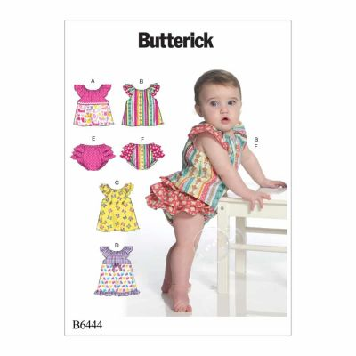 Butterick Sewing Pattern B6444 Infants' Ruffled Tops, Dresses and Panties