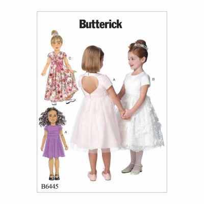 Butterick Sewing Pattern B6445 Children's/Girls' Dresses with Optional Heart Cutout