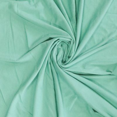 Remnant -Solid Colour Bamboo Jersey Fabric - Mint - 53 x 160cm