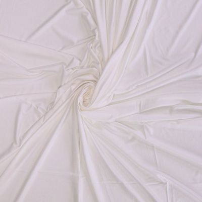 Solid Colour Organic Bamboo Jersey Fabric - Off White