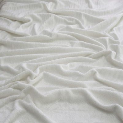 Remnant -Premium White Bamboo Terry Towelling - 75 x 150cm - Bolt End/Marked