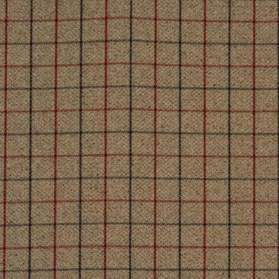 Porter & Stone - Bamburgh - Red - Curtain Fabric