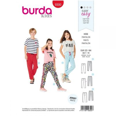 Remnant -Burda Sewing Pattern - 9300- Size 7-14 - End of Line