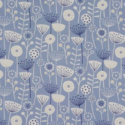 Bergen - Blue - Curtain Fabric