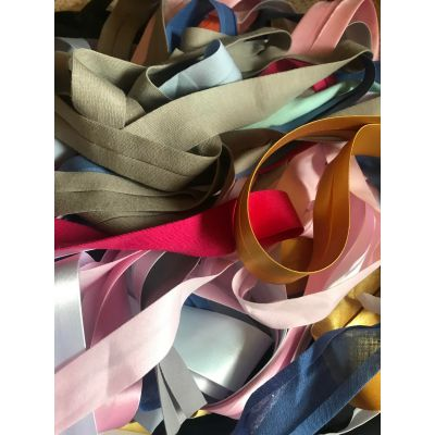 Remnant -  Mixed Satin Bias Binding Bundle - 10m approx