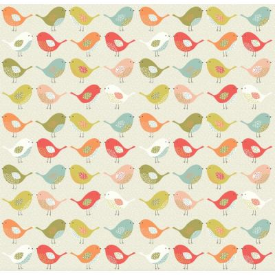 Birds - Multi - Curtain Fabric