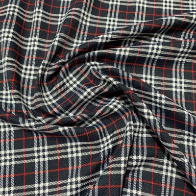 Soft Tartan Fabric - Black And White
