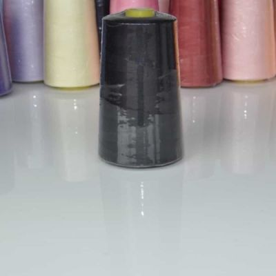 Black 5000 yard polyester overlocker thread