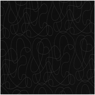 Nutex - Extra Wide Fabric - Squiggle Black
