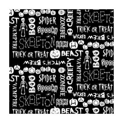 Blank The Boo Crew Halloween Words On Black Glow In The Dark Cut Length
