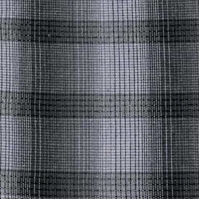 Blank Intermix Cotton Dobby Plaid Grey Cut Length
