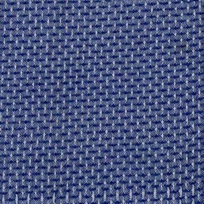 Blank Intermix Cotton Dobby Stitch Weave Blue Cut Length