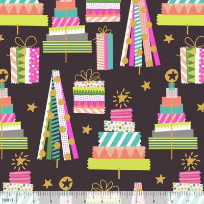 Remnant - Blend - All Is Bright - Holiday Washi Brown - 40 x 110cm