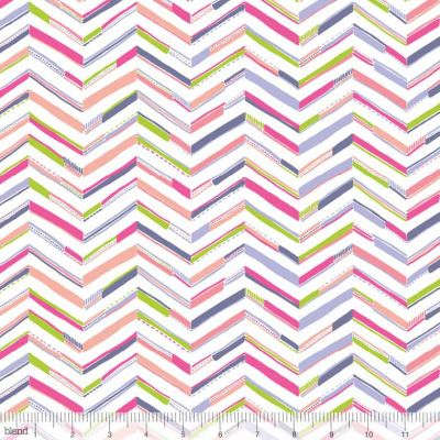 Blend Sundaland Jungle Tenun Chevron Pink Cut Length