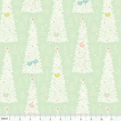 Blend Christmas Dear Winter Flock Mint Cut Length