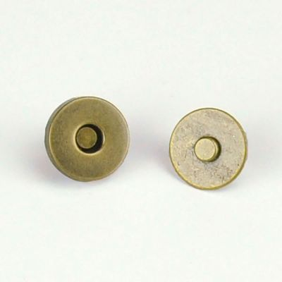 Magnetic Bag Closure 14mm - Brass