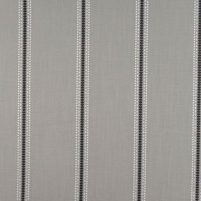 Porter & Stone - Bromley Stripe - Silver - Curtain Fabric