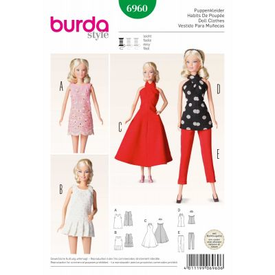 Remnant -Burda Sewing Pattern - 6960 - Size: One Size - End of Line