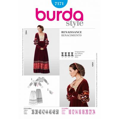 Remnant -Burda Sewing Pattern - 7171-Size: 10-24 - End of Line