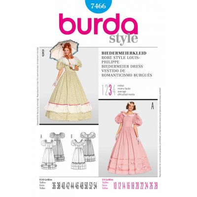 Remnant -Burda Sewing Pattern - 7466 - Size: 10-28 - End of Line