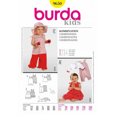 Burda Kids Sewing Pattern - 9650