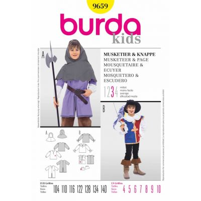 Remnant -Burda Sewing Pattern - 9659- Size: 4-10 - End of Line