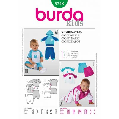 Burda Kids Sewing Pattern - 9748