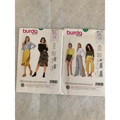 Remnant - 2 x Burda Sewing Patterns - size 34 - 44cm -End of Line