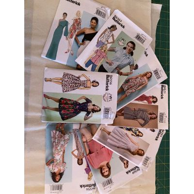 Remnant - 8 x Butterick Sewing Patterns - E5- size 14-16-18-20-22 - End of Line