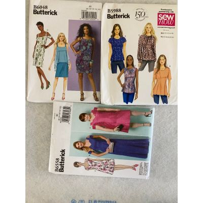 Remnant - 3 x Butterick Sewing Patterns - B5 (8/10/12/14/16) - End of Line