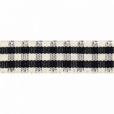 Berisfords 15mm Rustic Gingham Black Ribbon 4m Reel