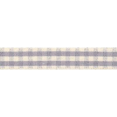 7mm Rustic Gingham Grey Ribbon 5m Reel