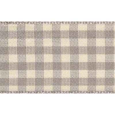 15mm Natural Gingham Grey Ribbon 4m Reel