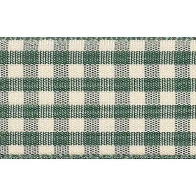25mm Natural Gingham Green Ribbon 3m Reel