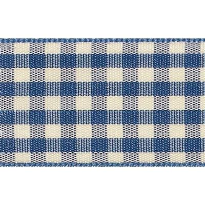 25mm Natural Gingham Blue Ribbon 3m Reel