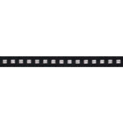 7mm Box Stitch Black Ribbon 5m Reel