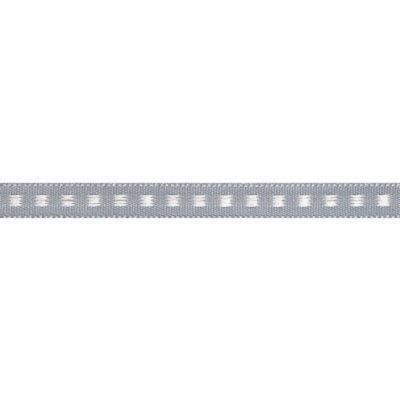 7mm Box Stitch Grey Ribbon 5m Reel