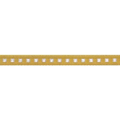 7mm Box Stitch Gold Ribbon 5m Reel