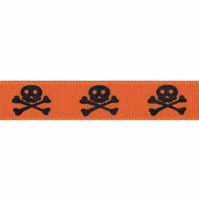 15mm Skull And Crossbones Orange 4m Reel