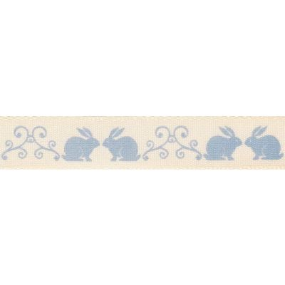 Berisfords 15mm Little Rabbits Blue Ribbon 4m Reel