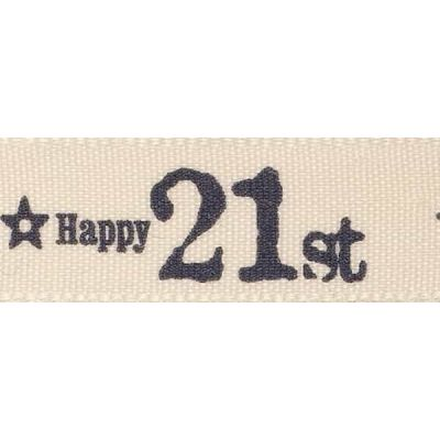 Berisfords 15mm Special Birthday 21st Ribbon 4m Reel