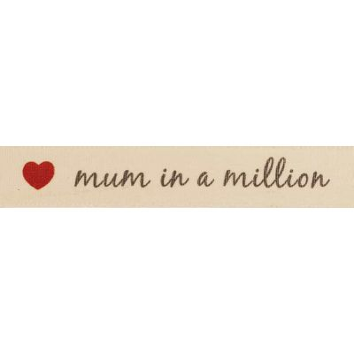 Berisfords 15mm Mum In A Million Ribbon 4m Reel