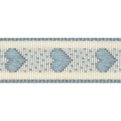15mm Rustic Hearts Pale Blue Ribbon 4m Reel
