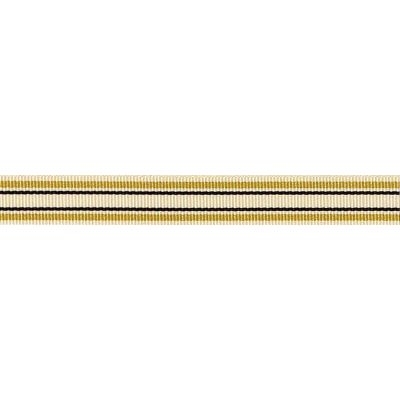 10mm Deckchair Stripe Gold Ribbon 4m Reel