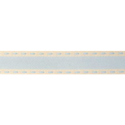 15mm Vintage Stitch Pale Blue Ribbon 4m Reel