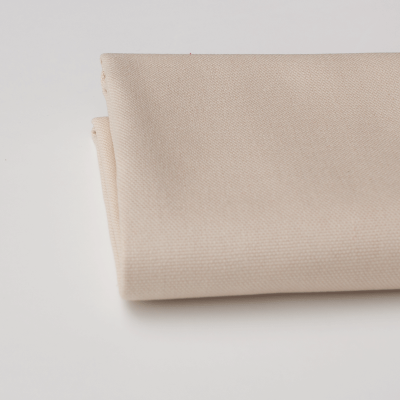 Remnant -Cream Solid Cotton Canvas - 94 x 150cm - Roll End/Marked